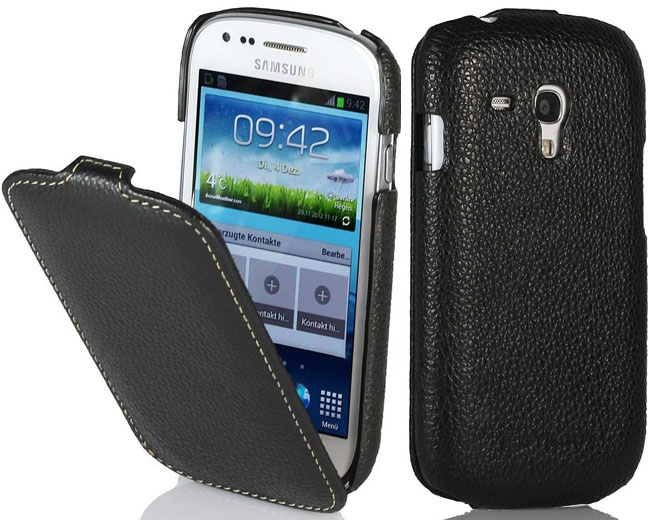 Custodia Samsung Galaxy S3 mini in pelle nera