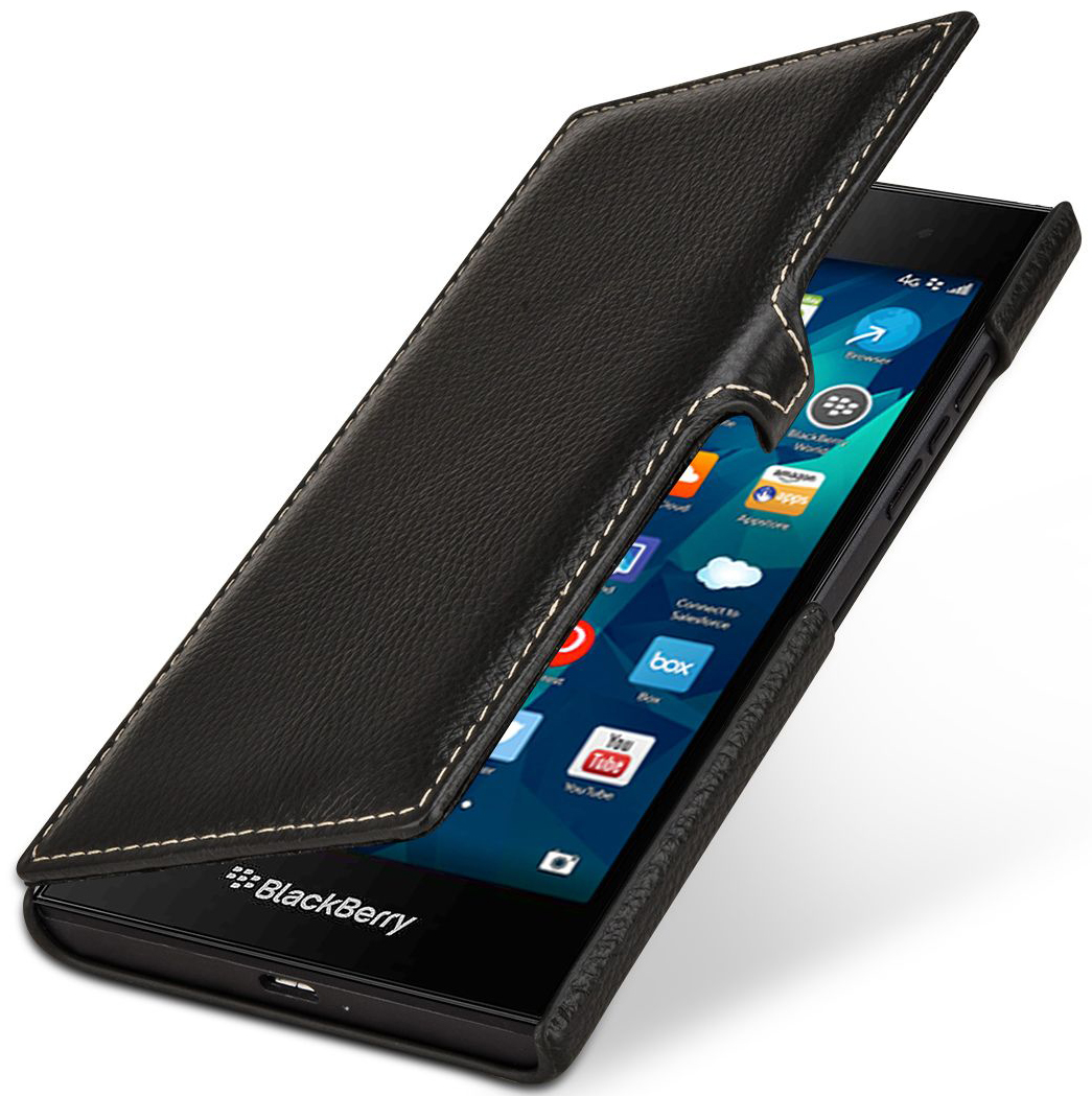 Cover BlackBerry Leap Book Type Con Clip